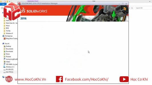 Sửa lỗi màn hình trắng khi cài đặt SolidWorks
