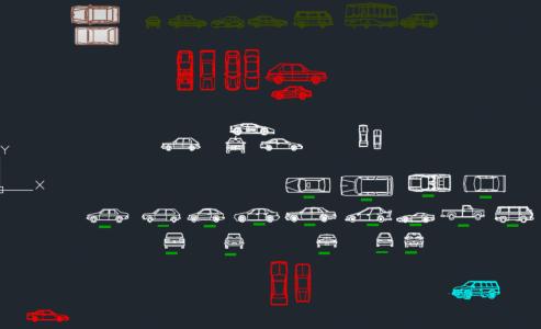 Thư viện cad xe ô tô – Các mẫu ô tô con cùng đủ kiểu dáng