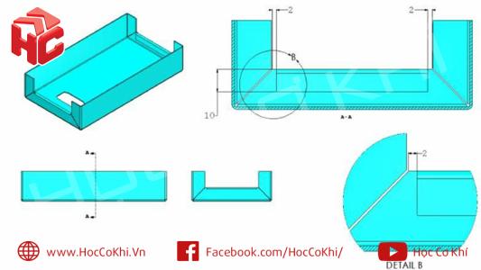 Đề thi chứng chỉ Solidworks kim loại tấm - CSWPA sheet metal