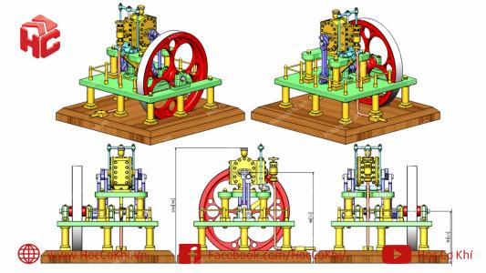 Bài tập vẽ 3D part và lắp ráp assembly trong Inventor - Phần 2