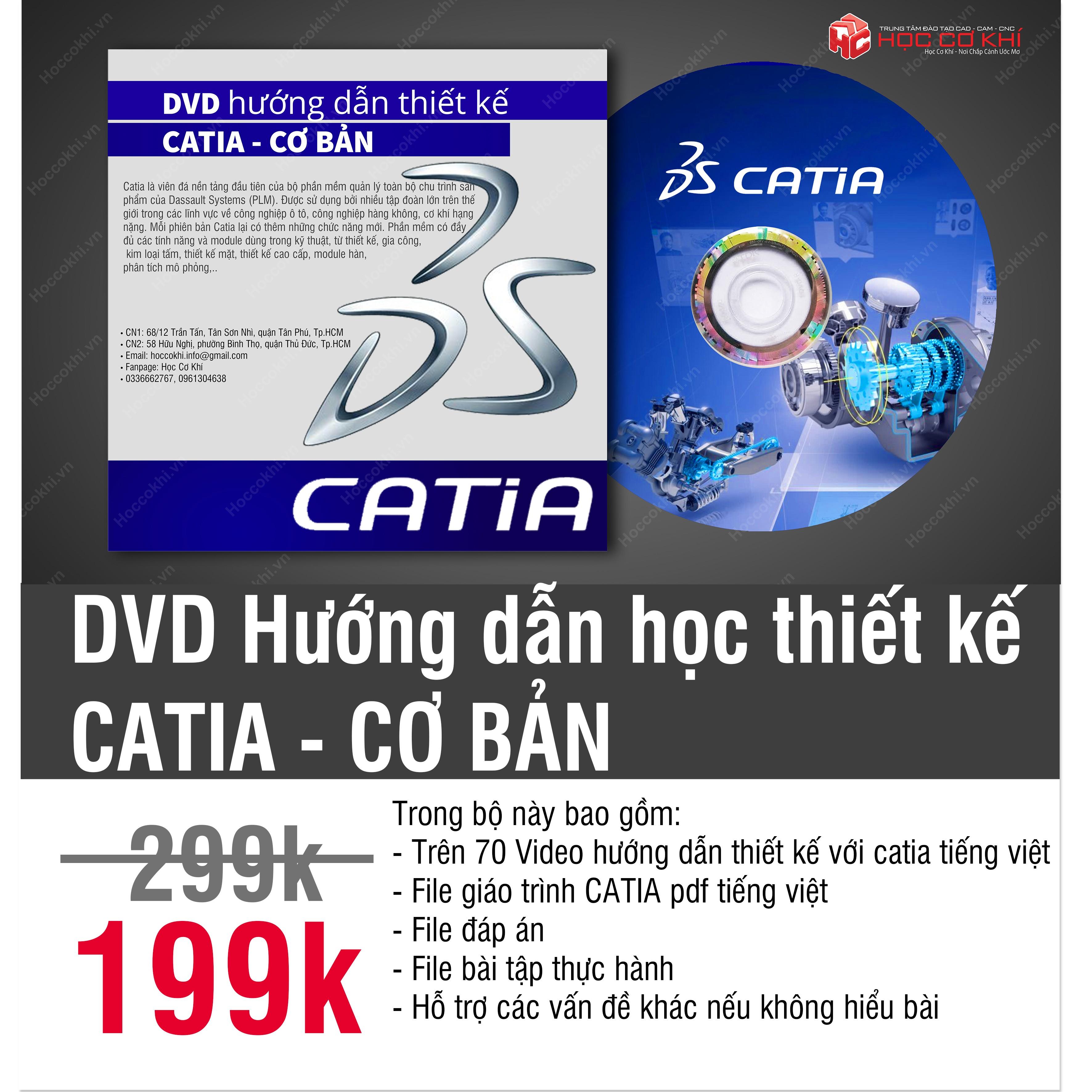 DVD hướng dẫn học thiết kế Catia - CƠ BẢN