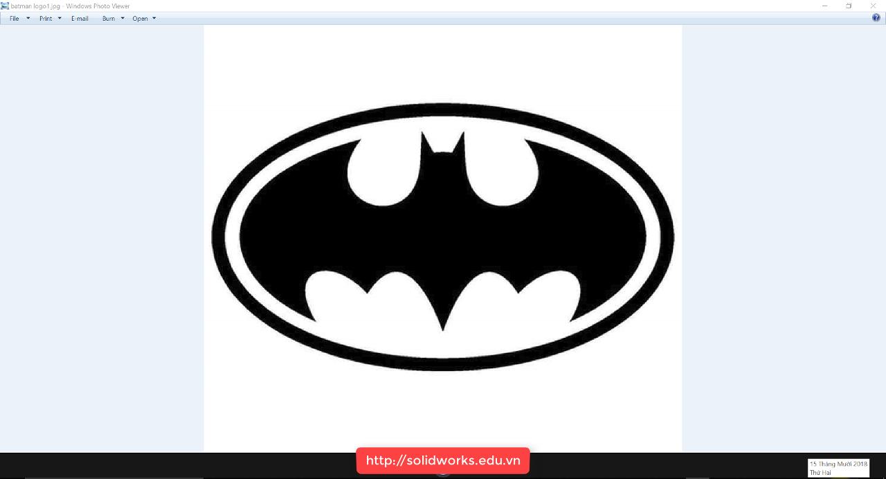 Hướng dẫn chuyển hình thành sketch - convert picture to sketch trên Solidworks